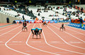 London 2012: athletes on wheelchair Stock Images