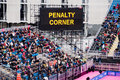 London 2012: penalty corner Royalty Free Stock Image
