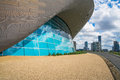 London Aquatics Centre in Queen Elizabeth Olympic Park, London,UK Royalty Free Stock Photo