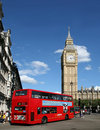 London, Big Ben and Double Decker Bus Royalty Free Stock Photos