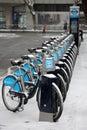 London bikes in winter Royalty Free Stock Photo