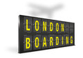 London boarding sign board on a white background Stock Image