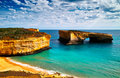 London Bridge of great ocean road Royalty Free Stock Photo