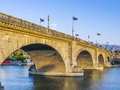 London bridge in lake havasu is a city arizona united states it is a relocated that formerly spanned the river Stock Photo