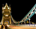 London bridge night scene of with lights in Royalty Free Stock Photography