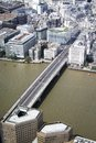stock image of  London bridge from the top of the shard