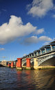 London britain blackfriars bridge railway station river thames uk Stock Photography