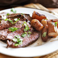 London broil beef roast Royalty Free Stock Photo