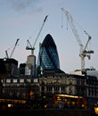 London building the st mary axe at dusk photo taken on jan Royalty Free Stock Photos