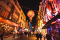 London china town night life in Royalty Free Stock Photos