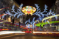 London christmas lights on regent street uk dec st the in st december Royalty Free Stock Images