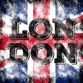 London city art. England street graphic style. Royalty Free Stock Photo