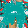 London City Frame Background Flat Poster Royalty Free Stock Photo