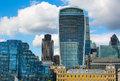 London city of london view modern buildings of offices banks and corporative companies uk september from the thames Stock Photography
