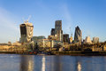 London city in the morning a view across thames towards of Royalty Free Stock Images