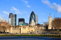 London City panorama Stock Image