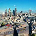 London city rooftop view with urban architectures Stock Photos