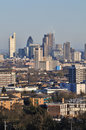 London city skyline early evening of uk viewed from the north of the Royalty Free Stock Photo