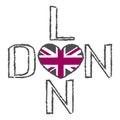 London City t shirt flag heart Royalty Free Stock Photo