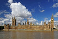 London cityscape with houses of parliament and big ben england united kingdom Royalty Free Stock Photography