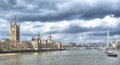 London cityscape seen from tower bridge england uk Royalty Free Stock Images