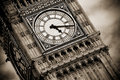 London clock tower detail Royalty Free Stock Photo