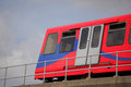 London dlr train docklands light railway serving docklands area in uk Royalty Free Stock Photos