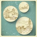 London doodles drawing landscape in vintage style this is file of eps format Stock Photos