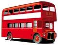 London double decker bus Royalty Free Stock Photo