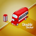 London double decker bus vector illustration of Royalty Free Stock Photos
