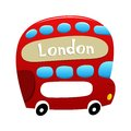 London double decker bus vector illustration of Stock Photo