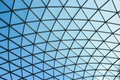 LONDON / ENGLAND - CIRCA AUGUST 2013 - The glass cupola of the British Museum interior Great Court Royalty Free Stock Photo