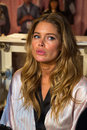 London england december victoria secret s model doutzen kroes is seen backstage prior the fashion show on Royalty Free Stock Photo