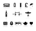 London england icon collection set of icons with great britain theme Stock Image
