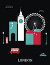 London england vector illustration on black background Stock Image