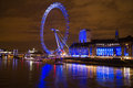 London ey eye in near westminister Stock Image
