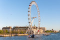 London eye in afternoon sun united kingdom may on may the giant ferris wheel is meters tall and the wheel has a Royalty Free Stock Photography