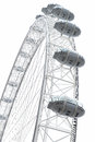 London eye the in the capital city of england Royalty Free Stock Image