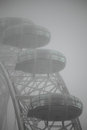 London Eye capsules in a mist Royalty Free Stock Image