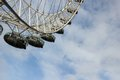 London eye at city united kingdom as seen on th of january Royalty Free Stock Image