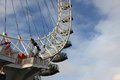 London eye at city united kingdom as seen on th of january Stock Image