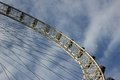 London eye at city united kingdom as seen on th of january Stock Photo