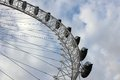 London eye at city united kingdom as seen on th of january Stock Images