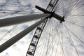 London eye at city united kingdom as seen on th of january Stock Photos