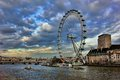 London eye at city united kingdom as seen on th of january Royalty Free Stock Photo