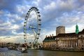 London eye at city united kingdom as seen on th of january Royalty Free Stock Photos