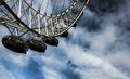 London eye at city united kingdom as seen on th of january Royalty Free Stock Photography