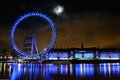 London eye december scene at the night time on december in Stock Image
