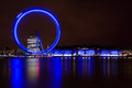 London eye lit up at night Stock Photography