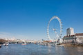 London eye one of the most important touristic attractions Royalty Free Stock Image